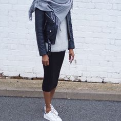 __ GET MY LOOK Skirt: GAP, similar TOPSHOP Jumper: GANNI Trainers: ADIDAS Scarf Jacket __ I'm a self confessed mini skirt lover, now coveting all things midi, case in point this midi tube skirt. Weari