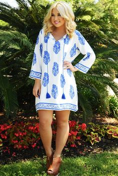 Violets Are Blue Dress: Blue/White #shophopes