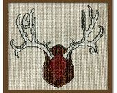 Counted Cross Stitch Pattern PDF. Deer Antlers.