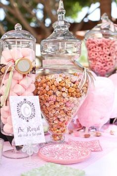 Apothecary jar  perfect for candy bars assorted sizes avail at Castles @ Cottages starting at $34.95