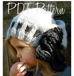 Knitting PATTERN-The Rochelle Slouchy Toddler di Thevelvetacorn