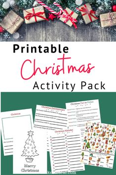 Printable Christmas Activity Pack with 6 pages of holiday fun for kids. #christmas Christmas Trivia, Christmas Alphabet, Christmas Post, Christmas Printables, Christmas Colors, Family Christmas, Christmas Photos, Christmas Traditions, Christmas Crafts
