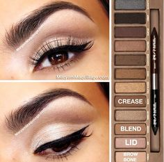 Natural Naked Palette! FYI I Love The Naked Palette The Colors Are So Stunning & Really Makes Your Eyes Pop!