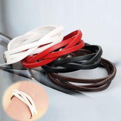 Accessori Del Corpo di tendenza In Pelle Intrecciata Intrecciato Pu Braccialetto di Cuoio Unisex 8 Colori