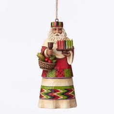 Title: African Santa Around World Ornament Introduction: January 2015 Item Number: 4047790 Material: Stone Resin Dimensions: 4.75 in H x 1.875 in W x 2.25 in L The Santas Around the World collection s