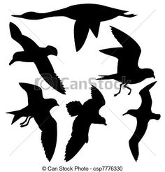 Illustration of silhouette flying birds on white background vector art, clipart and stock vectors. Vector Art, Clip Art, Stock Photos, Illustration, Flying Birds, Google, Random, Vinyls, Stamps