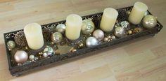 Weihnachten Weihnachts-Deko Dekoration Adventskranz Tablett DIY Anleitung ganz Boden