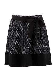 Contrast Eyelet Skirt available at #Maurices