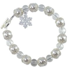 Snow Crystals Bracelet Project | Swarovski Winter Jewelry Project