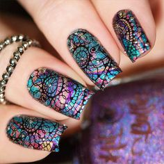 21 Unique Acrylic Nail Designs to Make Your Look Unforgettable ★ Acrylic Nail Designs Made With Stamping Technique Picture 2 ★ See more. Nail Art Designs, Simple Nail Designs, Beautiful Nail Designs, Beautiful Nail Art, Acrylic Nail Designs, Gorgeous Nails, Acrylic Nails, Fingernail Designs, Nails Design
