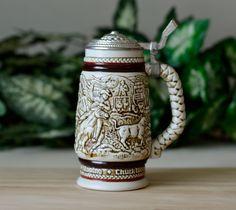 Vintage ,Avon, Beer Stein,Beer Mug, Handcrafted ,Brazil 1980, Ceramarte,Exclusive for Avon,Old Mug by HoneyQueenBee on Etsy