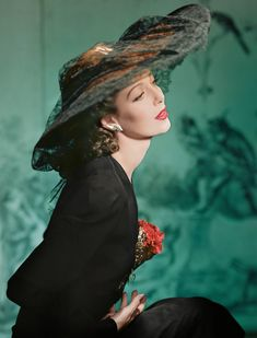 Horst P. Horst - Fashion in Colour - Loretta Young, New York, Small Color Photograph For Sale at Loretta Young, Vintage Hollywood, Hollywood Glamour, Hollywood Stars, Classic Hollywood, Hollywood Fashion, Hollywood Photo, Hollywood Actor, Vintage Glamour