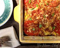 Tomato, Squash and Red Pepper Gratin from Cooking Light via Taking On Magazines