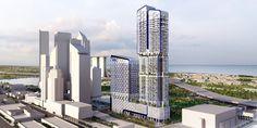UIC building UN Studio, mixed-use highrise, hexagonal facade, facade pattern, singapore architecture