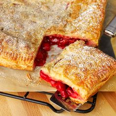 No Fuss Fruit Pie ~ Nothing could be easier than this fruit pie made with puff pastry sheets. Add your favorite pie filling, cherry, apple, blueberry, etc... Delicious!