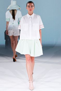 Chalayan Spring 2013 Ready-to-Wear Fashion Show - Andreea Diaconu (IMG)