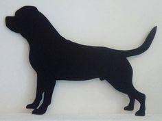 Mémo rottweiler ardoise silhouette bois peinture. Idée cadeau