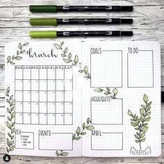 Looking for the best bullet journal ideas for your bujo? Here is a beautiful simple and easy bullet journal plants theme that is perfect for you. #bulletjournal #bulletjournallayout Bullet Journal Wishlist, March Bullet Journal, Bullet Journal Headers, Bullet Journal Writing, Bullet Journal Themes, Bullet Journal Spread, Bullet Journal Layout, Bullet Journal Inspiration, Journal Covers