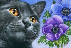 Anemones by Irina Garmashova-Cawton