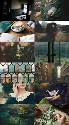 Ars Aesthetica - Slytherin im Herbst - [slytherin] - Autumn Aesthetic, Witch Aesthetic, Aesthetic Collage, Slytherin House, Slytherin Pride, Ravenclaw, Harry Potter, Hogwarts, Model Tips