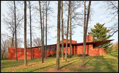 Frank Lloyd Wright, HOUSE IN EBSWORTH PARK Saint Louis, USA