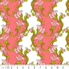 Old Country Store Fabrics - Riley Blake - Isabella - Old Country Stores, Brocade Fabric, Riley Blake, Frame Shop, Princess Peach, Vines, Print Patterns, Projects To Try, Coral