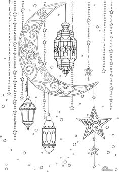 lune lanterne ramadan Why don't you consider seeing a camp which is plain but is Eid Crafts, Ramadan Crafts, Ramadan Decorations, Ramadan For Kids, Coloring Book Pages, Coloring Sheets, Decoraciones Ramadan, Ramadan Activities, Islamic Art