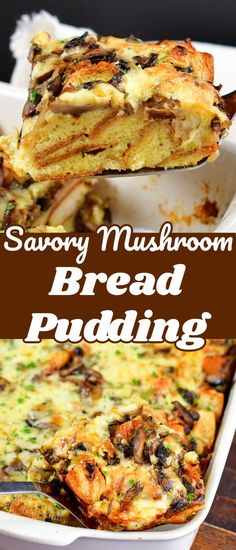 Mushroom Bread Pudding is a perfect option for a comforting, flavorful, and decadent weekend breakfast or brunch. This savory bread pudding is loaded with sautéed mushrooms, shallots, leeks, and garlic, and is flavored with earthy notes of rosemary and thyme. This comforting savory bread pudding tastes like the best mushroom soup!