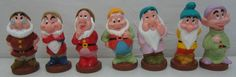 "Disney Snow White 7 Seven Dwarfs Rubber Plastic Squeeze Figures Bath Toy 5"" New #Disney"