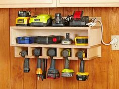 Get your garage shop in shape with garage organization and shelving. They come with garage tool storage, shelves and cabinets. Garage storage racks will give you enough space for your big items and keep them out of the way. Garage Atelier, Shed Organization, Storage Organizers, Organizing Tools, Woodworking Organization, Charger Organization, Shelf Organizer, Diy Garage Storage, Wall Storage