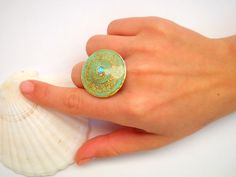 Turquoise Opal silver ring Sterling silver ring by hilawelner,