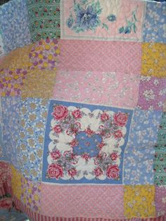 how to make a hanky quilt | am thrilled with the way it turned out. I think I may need a major ...