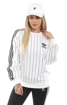 Adidas Women, 3 Stripes Crewneck - Sweatshirts / Hoodies - MOOSE Limited