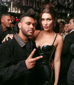 Abel Tesfaye and Bella Hadid at a Met Gala after-party