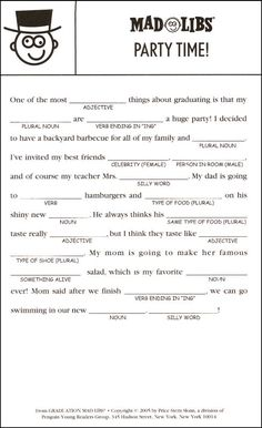 adultmadlibsfreeprintable graduation mad libs additional photo inside page