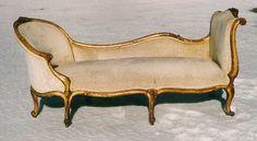 Antique French furniture Recamier sofa