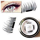#8: New False MAGNETIC Eyelashes by CoeurX 1 Pair 4 Pieces   0.2mm Ultra Thin Fake Mink Eyelashes for Natural Look   Reusable Best Fake Lashes   Cruelty Free   Perfect for Deep Set Eyes & Round Eyes