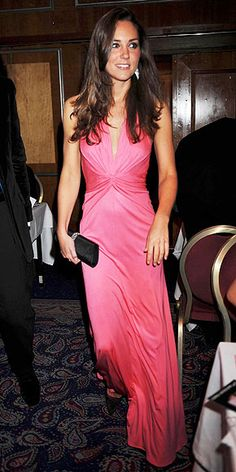 Duchess Catherine in Issa gown at the Boodle Boxing Box at the Royal Lancaster Hotel, June 2008