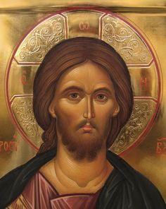 Jesus - Icons by Malin Dimov Religious Images, Religious Icons, Religious Art, Byzantine Icons, Byzantine Art, Christ Pantocrator, Greek Icons, Jesus Face, Catholic Art