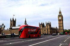 Roter Bus, Brücke, Big Ben, Sehenswürdigkeit, London, Themse,