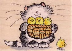 HM Rubber Stamps Penny Black Cats Kittens