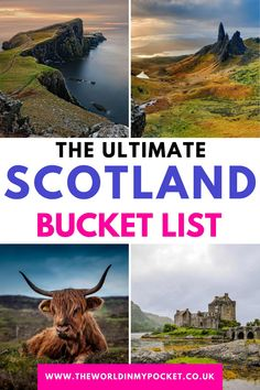 Scotland Bucket List: The Most Beautiful Places to Visit in Scotland - The World in My Pocket Scotland Travel Guide, Scotland Vacation, Scotland Road Trip, Ireland Travel, Beautiful Places To Visit, Cool Places To Visit, Worldwide Travel, Scottish Highlands, Trip Planning