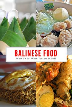 Planning a trip to Bali, Indonesia? Here is a pictorial Bali food guide with 7 popular dishes Plus a few recommendations for where to eat. Ubud, Bali Outfit, Bali Travel Guide, Asia Travel, Travel Tips, Travel Guides, Bali Baby, Coconut Curry Sauce, Florida