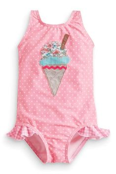Buy Ice Cream Appliqué Swimsuit (3mths-6yrs) from the Next UK online shop