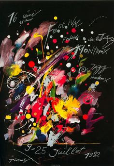 Jean Tinguely, 1982 poster for Montreux Jazz Fest Festival Jazz, Montreux Jazz Festival, Festival Posters, Concert Posters, Jean Tinguely, Jazz Poster, Blue Poster, Jazz Art, Artists For Kids