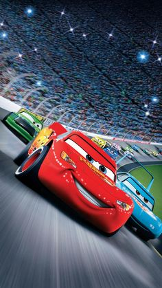 Lightning McQueen, a hotshot rookie race car driven to succeed, discovers that life is about the journey, not the finish line, when he finds himself. Bugatti, Maserati, Ferrari, Disney Cars Movie, Cars Cartoon Disney, Disney Pics, Pixar Movies, Disney Land, Disney Cars Wallpaper