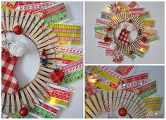 Csipeszkarika adventi naptár - Masni / Cloths pin advent calendar DIY