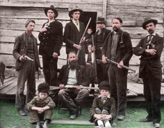 Devil Anse Hatfield and gang. (Hatfields and McCoy Feud)