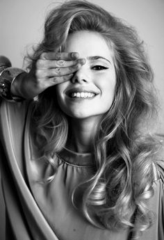 serious 1970s 1980s long glamorous but soft California hair Erin Bubley