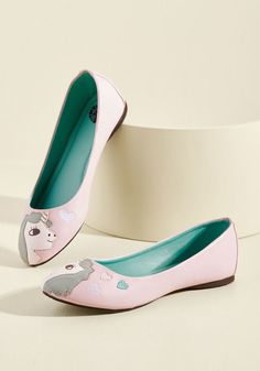 In Love With Unicorn Flat in Petal in 10 - Flat - 0-1 by T.U.K. from ModCloth